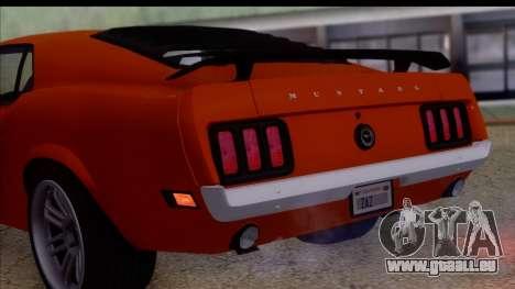 Ford Mustang Boss 429 1970 für GTA San Andreas rechten Ansicht