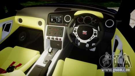 Nissan GT-R R35 2012 pour GTA 4 est une vue de l'intérieur