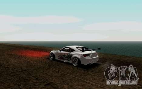 Subaru BRZ VCDT für GTA San Andreas zurück linke Ansicht