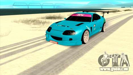 Toyota Supra Blue Lightning pour GTA San Andreas