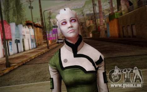 Liara T Soni Scientist Suit from Mass Effect für GTA San Andreas dritten Screenshot