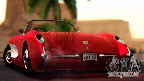 Chevrolet Corvette C1 1962 pour GTA San Andreas laissé vue