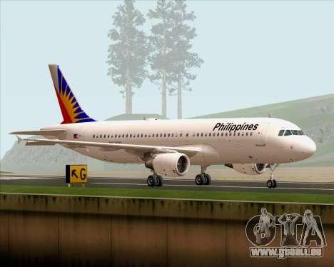 Airbus A320-200 Philippines Airlines pour GTA San Andreas laissé vue