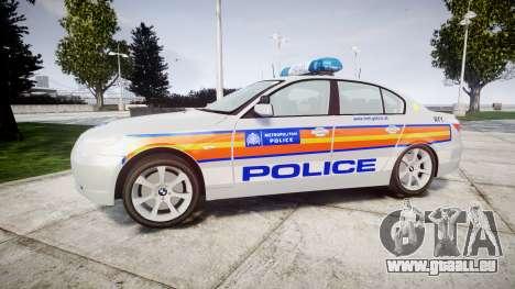 BMW 525d E60 2009 Police [ELS] für GTA 4 linke Ansicht
