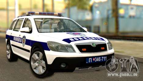 Skoda Octavia Scout Police pour GTA San Andreas