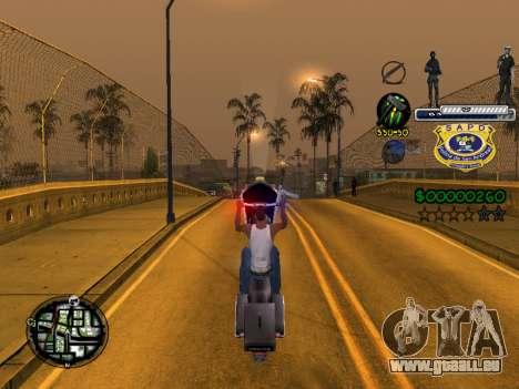 C-HUD Police S.A.P.D pour GTA San Andreas cinquième écran