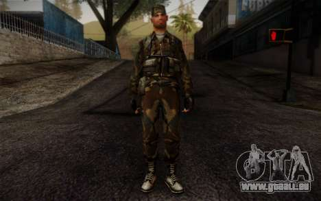 Soldier Skin 4 pour GTA San Andreas