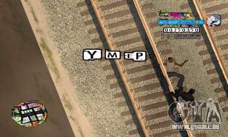 C-HUD Color pour GTA San Andreas quatrième écran