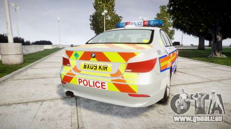 BMW 525d E60 2009 Police [ELS] für GTA 4 hinten links Ansicht