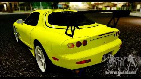 Mazda RX-7 Drift pour GTA San Andreas laissé vue