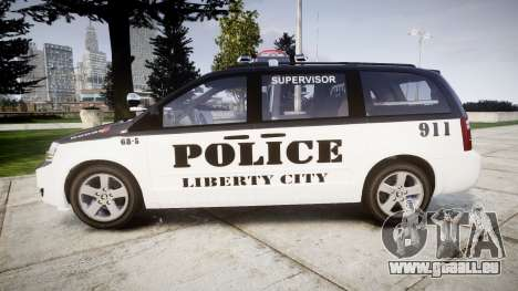 Dodge Grand Caravan LCPD [ELS] für GTA 4 linke Ansicht