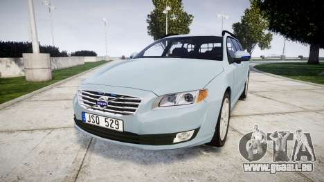 Volvo V70 2014 Swedish Police [ELS] Unmarked pour GTA 4