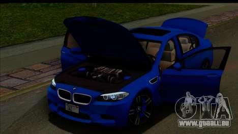 BMW M5 F10 2012 für GTA San Andreas Innen