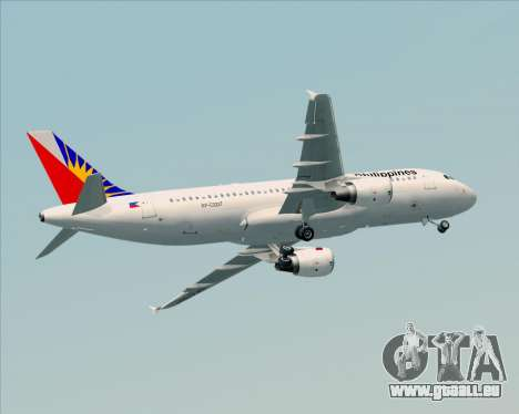 Airbus A320-200 Philippines Airlines für GTA San Andreas obere Ansicht