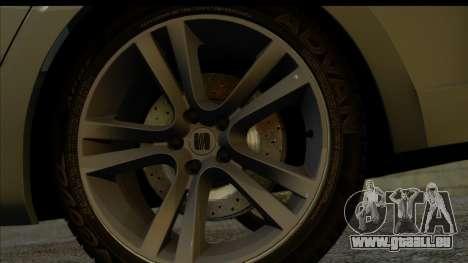 Seat Leon Fr 2013 pour GTA San Andreas sur la vue arrière gauche