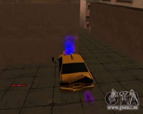 Indicateur de HP de la voiture pour GTA San Andreas troisième écran