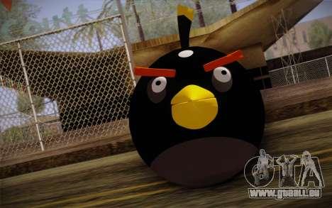Black Bird from Angry Birds für GTA San Andreas dritten Screenshot