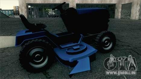 GTA V Mower pour GTA San Andreas sur la vue arrière gauche