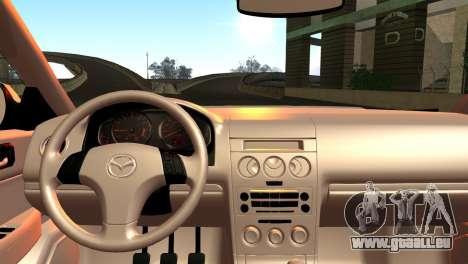 Mazda 6 MPS pour GTA San Andreas sur la vue arrière gauche