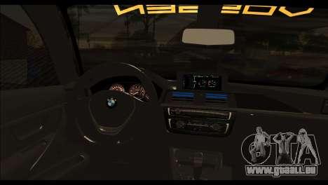 BMW M4 Stanced v2.0 pour GTA San Andreas sur la vue arrière gauche