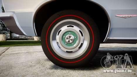 Pontiac GTO 1965 skull pour GTA 4 Vue arrière