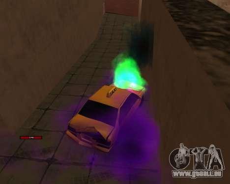 Indicateur de HP de la voiture pour GTA San Andreas quatrième écran