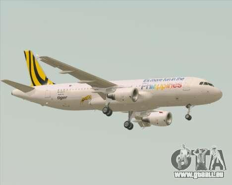 Airbus A320-200 Tigerair Philippines für GTA San Andreas Rückansicht