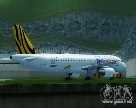 Airbus A320-200 Tigerair Philippines für GTA San Andreas rechten Ansicht