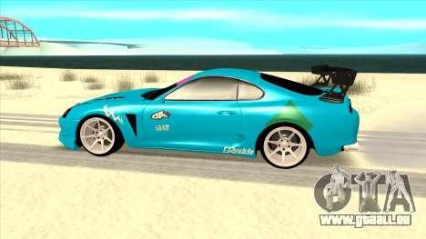 Toyota Supra Blue Lightning pour GTA San Andreas laissé vue