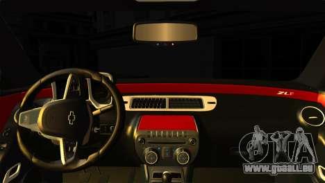 Chevrolet Camaro Police pour GTA San Andreas sur la vue arrière gauche