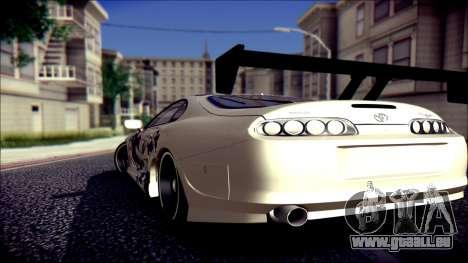Toyota Supra Street Edition pour GTA San Andreas laissé vue