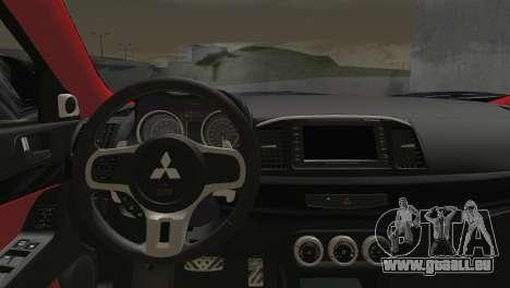 Mitsubishi Lancer Evolution X Racing Miku 2014 für GTA San Andreas zurück linke Ansicht