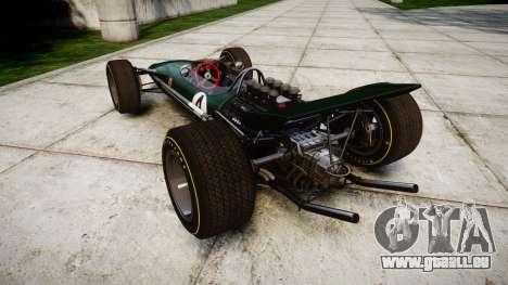 Lotus Type 49 1967 [RIV] PJ3-4 für GTA 4 hinten links Ansicht