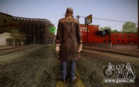 Aiden Pearce from Watch Dogs v5 pour GTA San Andreas deuxième écran