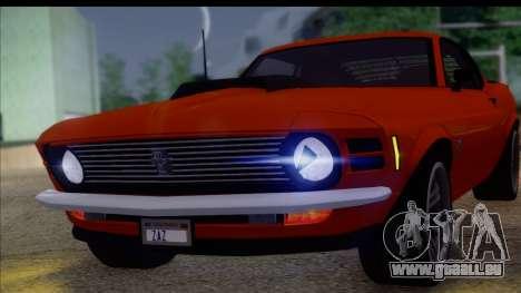 Ford Mustang Boss 429 1970 für GTA San Andreas zurück linke Ansicht