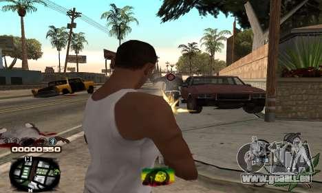 C-HUD Rasta pour GTA San Andreas troisième écran