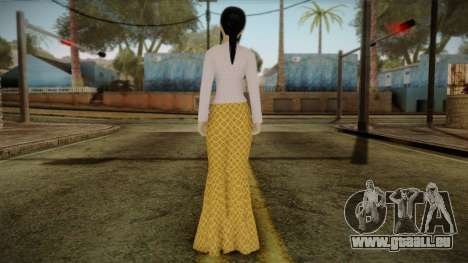 Kebaya Girl Skin v1 pour GTA San Andreas deuxième écran