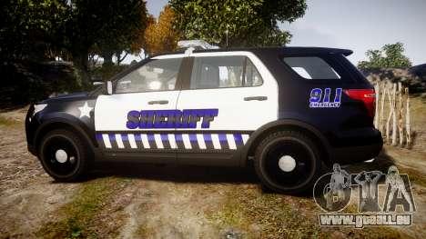 Ford Explorer 2013 Sheriff [ELS] v1.0L pour GTA 4 est une gauche