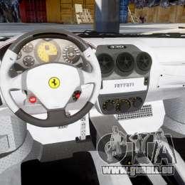 Ferrari F430 Scuderia 2007 Sharpie pour GTA 4 est une vue de l'intérieur