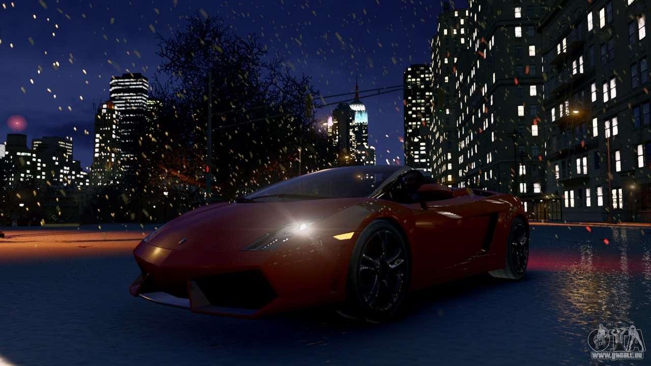 Для того, чтобы в Snow IV для GTA 4. А вот и мод, который добавляет снег