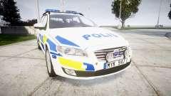 Volvo V70 2014 Swedish Police [ELS] Marked pour GTA 4