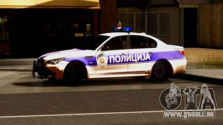 BMW M5 E60 POLICIJA pour GTA San Andreas