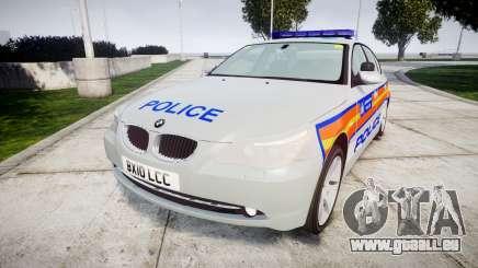 BMW 525d E60 2010 Police [ELS] pour GTA 4