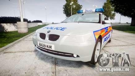 BMW 525d E60 2009 Police [ELS] pour GTA 4