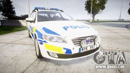 Volvo V70 2014 Swedish Police [ELS] Marked pour GTA 4
