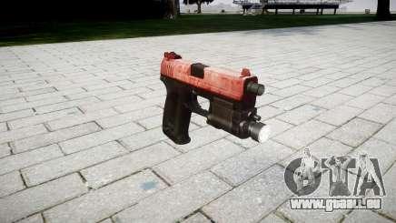 Pistole HK USP 45 rot für GTA 4