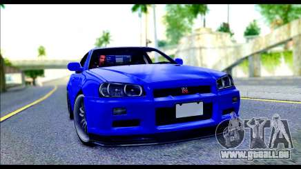 Nissan Skyline GTR R-34 from Fast and Furious 4 pour GTA San Andreas