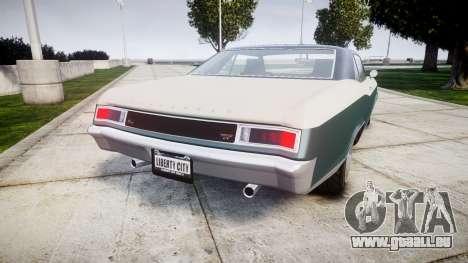 GTA V Albany Buccaneer paint1 pour GTA 4 Vue arrière de la gauche