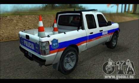 Ford Ranger 2011 Patrulleros CPC pour GTA San Andreas laissé vue