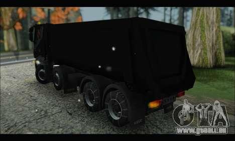 Iveco Trakker 2014 Tipper Snow (IVF & ADD) pour GTA San Andreas sur la vue arrière gauche